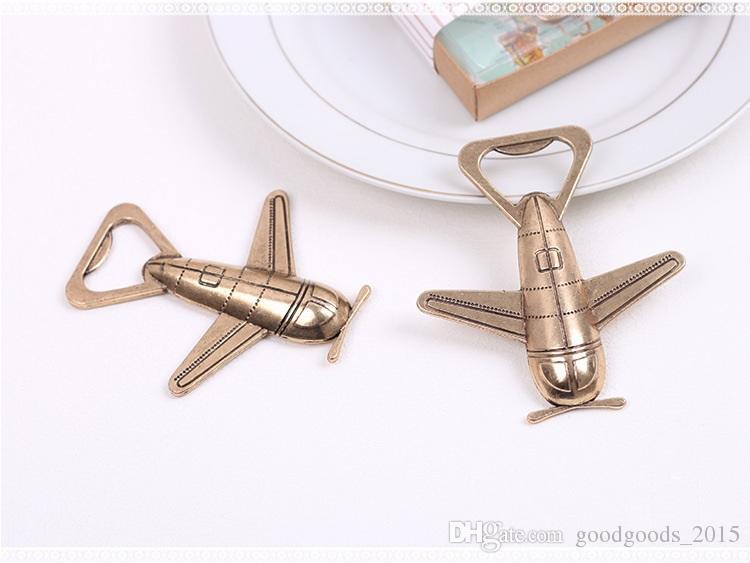 Portable Premium Zinc alloy Bar supplies Aircraft Adventure Airplane Wine Beer Bottle Opener Wedding Gift Box Decor c469