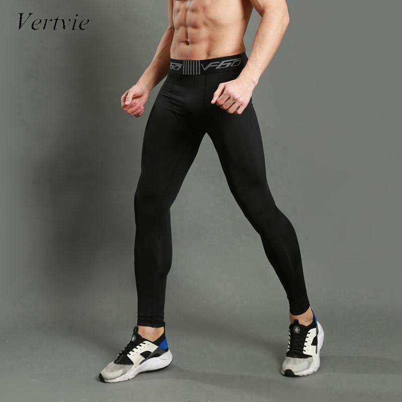 737af295d976 Acquista Vertvie Running Tights 2017 Men Sports Leggings Sportswear Sweat  Jogger Pant Pro Skinny Compression Gym Fitness Pantaloni Sportivi A $21.45  Dal ...