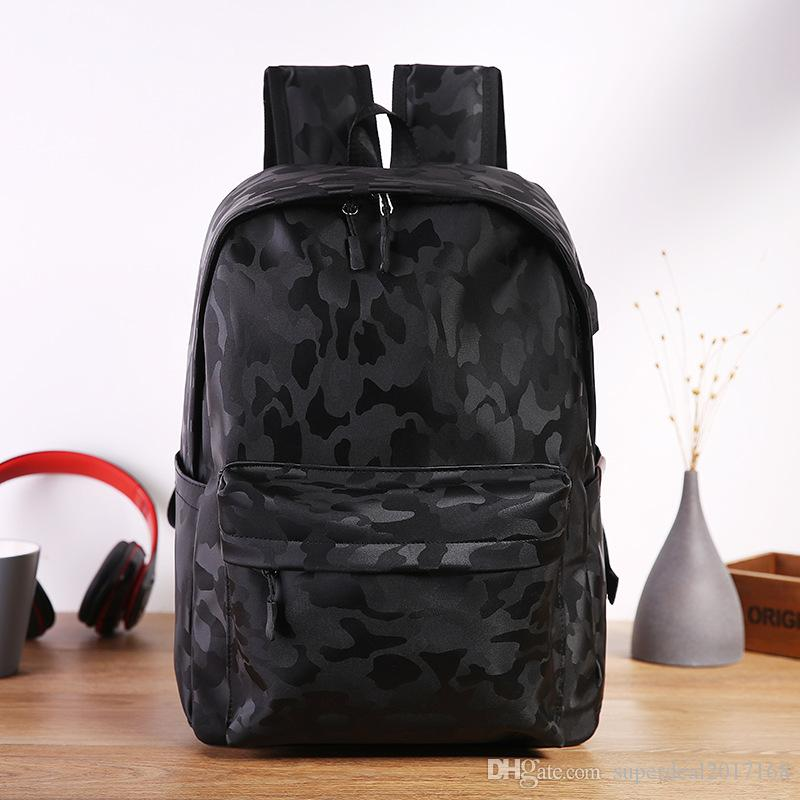 7b3ed97fa2 New Fashion Army Men Backpacks Canvas Print School Backpack Bags For Teens  Boys Camouflage Pattern Casual Style Backpack With USB Charge Cheap  Backpacks ...