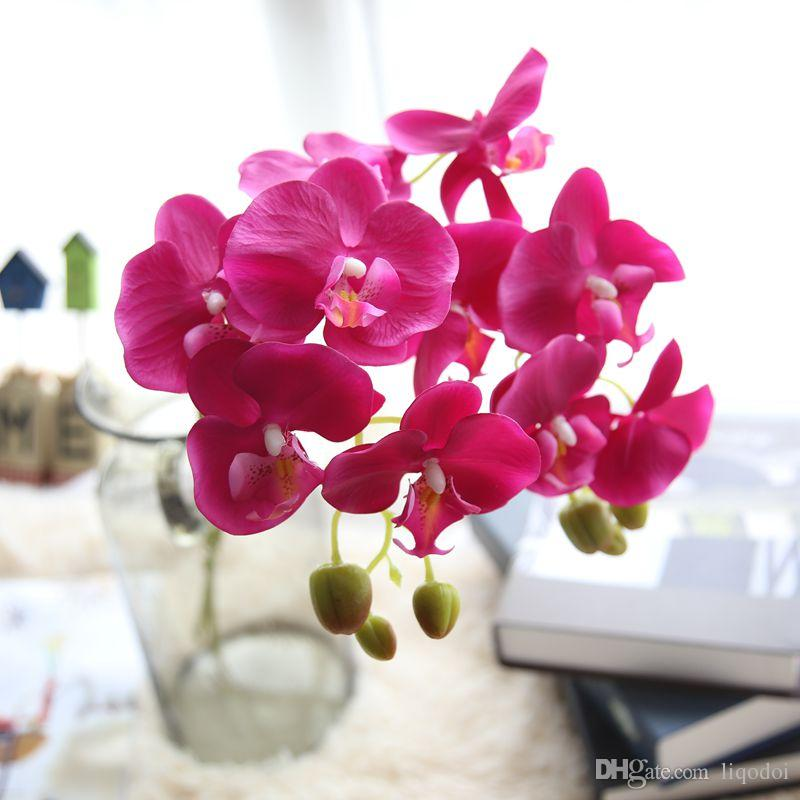 Fashion orchid artificial flowers diy artificial butterfly orchid fashion orchid artificial flowers diy artificial butterfly orchid silk flower bouquet phalaenopsis wedding party home decoration from china decorative mightylinksfo Image collections