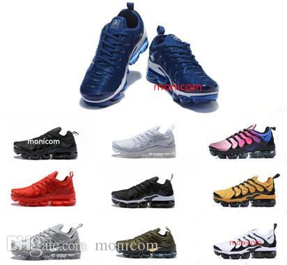 2018 NEW men women Vapormax TN Plus White Silver Colorways Pack Triple Black casual shoes men women with box size 36-45 discount under $60 low price fee shipping cheap price amazon sale online H369kxUHt4