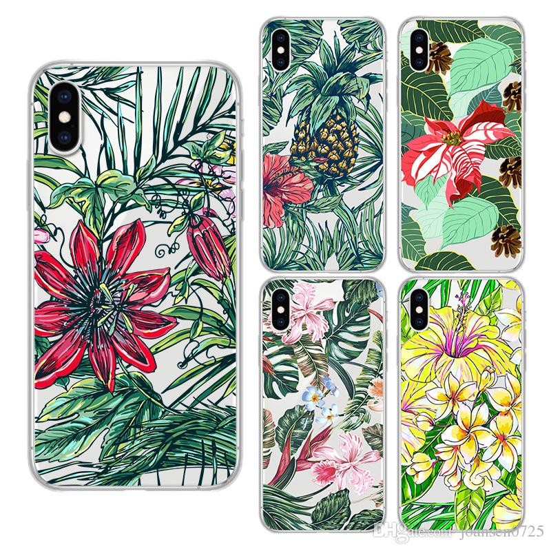 For iPhone X 6 6S 7 8 Plus Xs Max Xr Samsung Galaxy S8 S9 Note 8 Soft TPU Colourful Flowers Painted Cell Phone Case Silicone iphone Cover