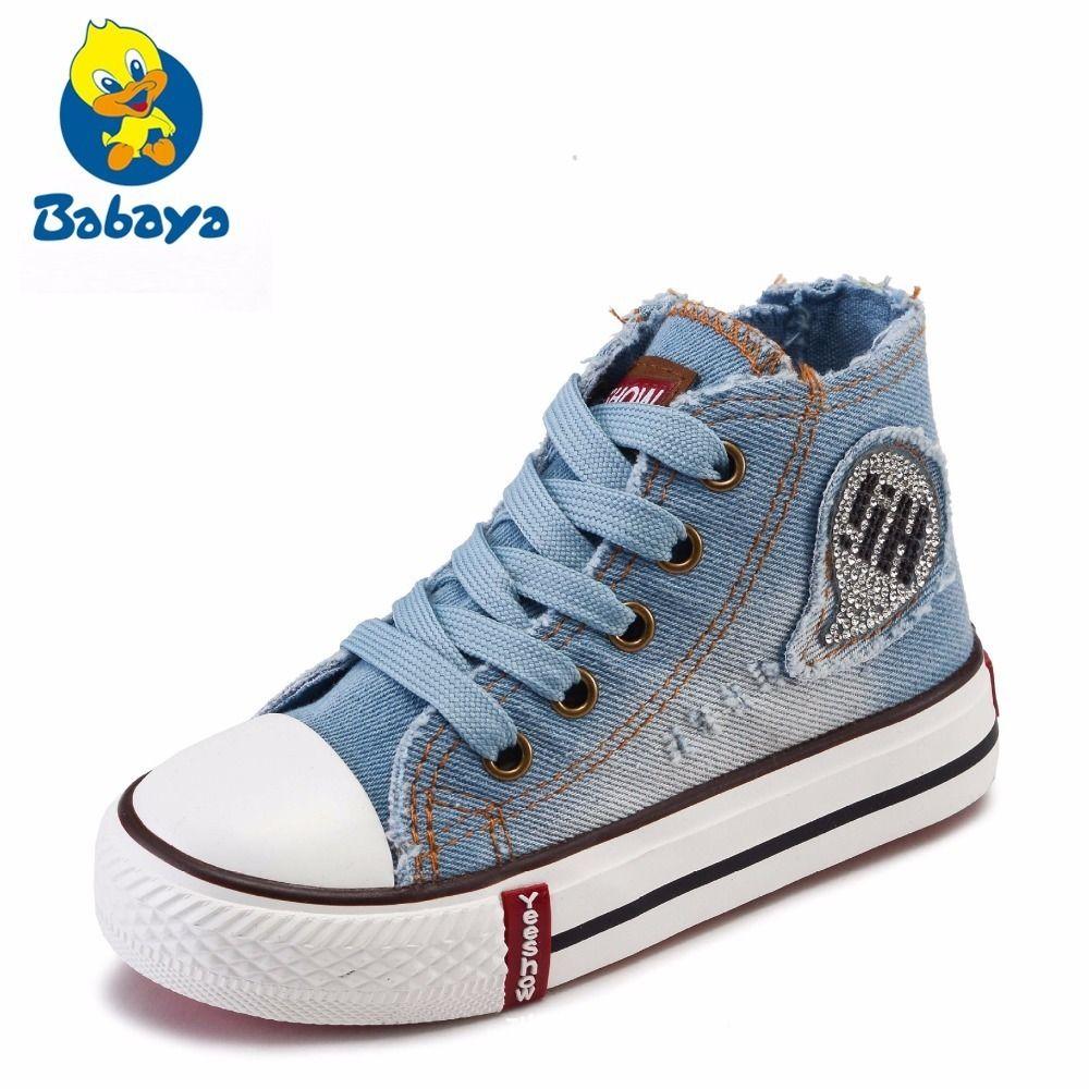 2018 Per Da Tela Ragazzi Scarpe Di Classiche Ginnastica Spring High Bambini New Jeans Casual Top Moda Ragazze Sneakers zVpUMqS