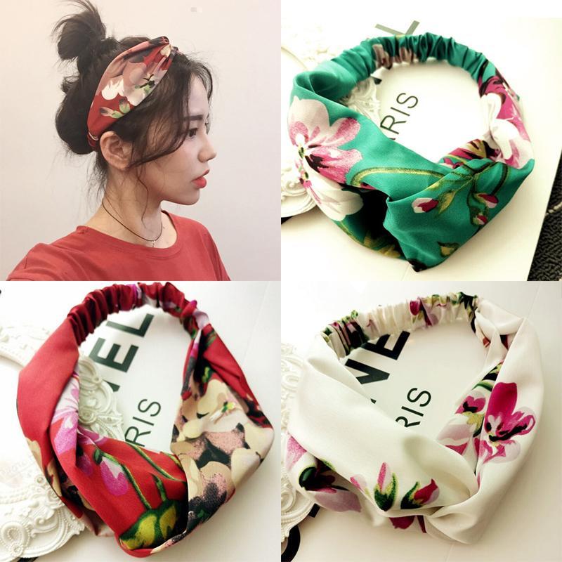 6a17bc70a6c3 2019 Women Girls Summer Bohemian Hair Bands Print Headbands Retro Cross  Turban Bandage Bandanas HairBands Hair Accessories Headwrap C18110801 From  Tong06
