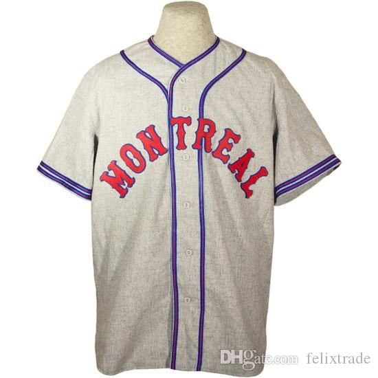 282825dcfe0 2019 Montreal Royals 1935 Road Jersey Stiched Name   Number   Logos Baseball  Jersey For Men Women Youth From Felixtrade