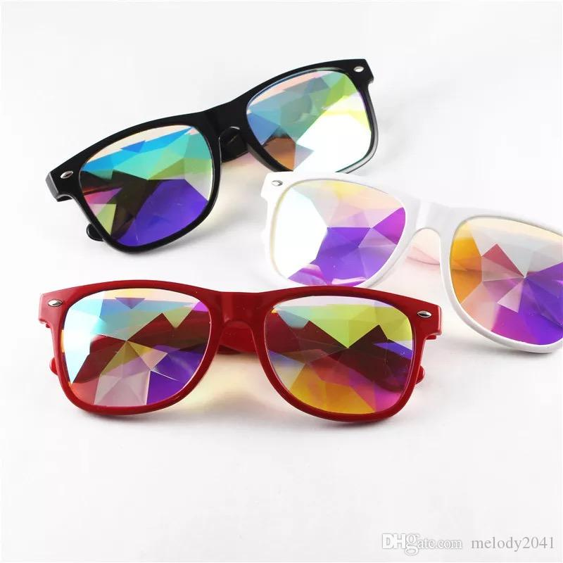 a22eed1acd 2018 Party Eyeglasses Disco Traveller Sunglasses Kaleidoscope Glasses Resin  4D Glass Crystal Music Festival Wholesale Best Sunglasses Dragon Sunglasses  From ...