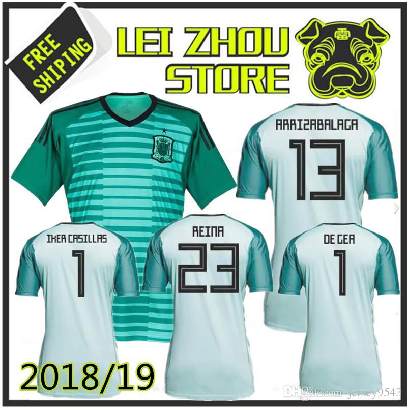 6d56568a1 2019 2018 Spain Goalkeeper Soccer Jersey 1819 Spain ASENSIO MORATA ISCO  A.INIESTA DE GEA REINA IKER CASILLAS ARRIZABALAGA Football Shirts JERSEY  From ...