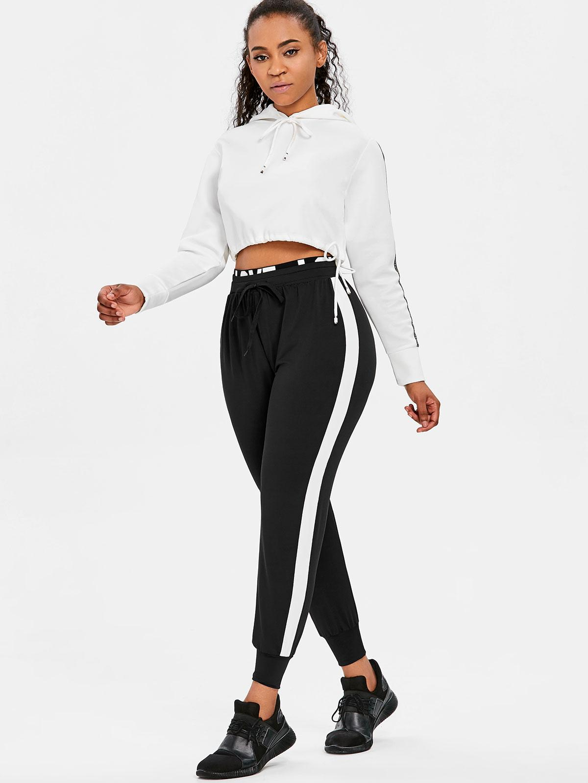 4a04f914 2019 Belleziva Ropa Deportiva Mujer Gym Fitness Yoga Leggings Side Stripe  Tracksuit Pant Elastic Nylon High Waist Sweatpants 2018 New From Hougo, ...