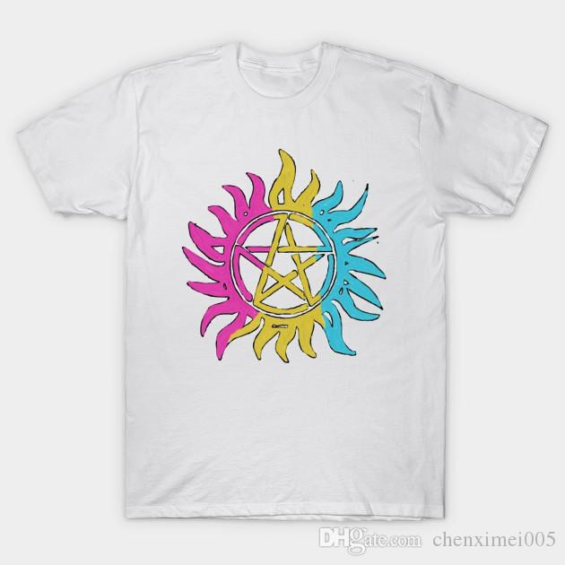 Pansexual Pride Flag Anti-Possession Symbol T-Shirt