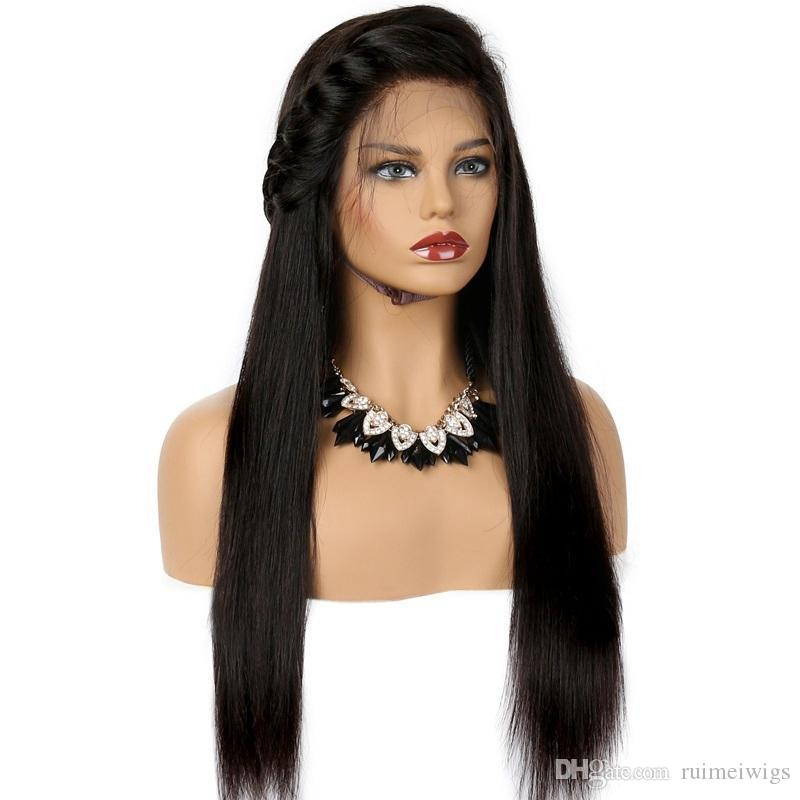 150% Density Brazilian Straight Lace Front Human Hair Wigs For Black Women Cheap Brazilian Virgin Hair Lace Front Wigs With Baby Hair