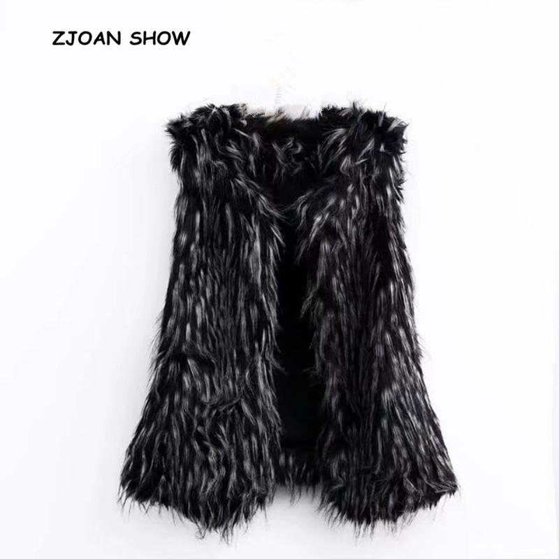 2019 Stylish Gradual Color Long Hairy Shaggy Faux Fur Vest New 2018 Winter  Women Faux Fur Sleeveless Coat Fur Outerwear Hot Sales From Mingclothes001 07884afc68e84