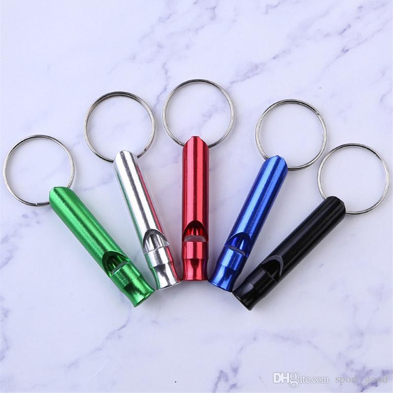 Metall aluminiumlegierung pfeife für outdoor wandern camping gadgets werkzeuge leicht zu tragen taschenpfeifen verschleißfest