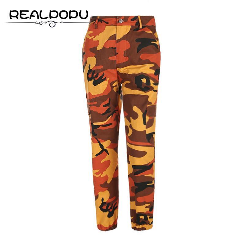 6168b8d2ca8ac5 Großhandel Waatfaak Hohe Taille Camouflage Harm Hosen Baumwolle Casual  Taschen Hosen Frauen Hip Hop Slim Fitness Mode Lange Pantalon Weibliche  S18101606 Von ...