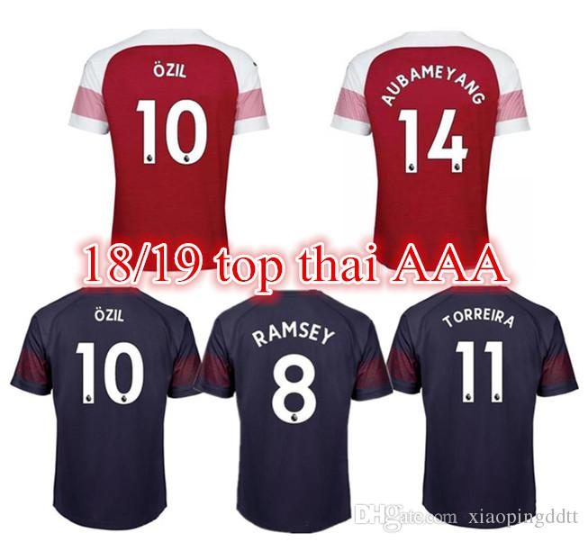 Camiseta De Fútbol Arsenal De Tailandia 2018 2019 AUBAMEYANG MKHITARYAN  OZIL JERSEY 18 19 Camiseta De Fútbol LACAZETTE XHAKA TORREIRA Camiseta De  Fútbol Por ... ca041ac14d1d7