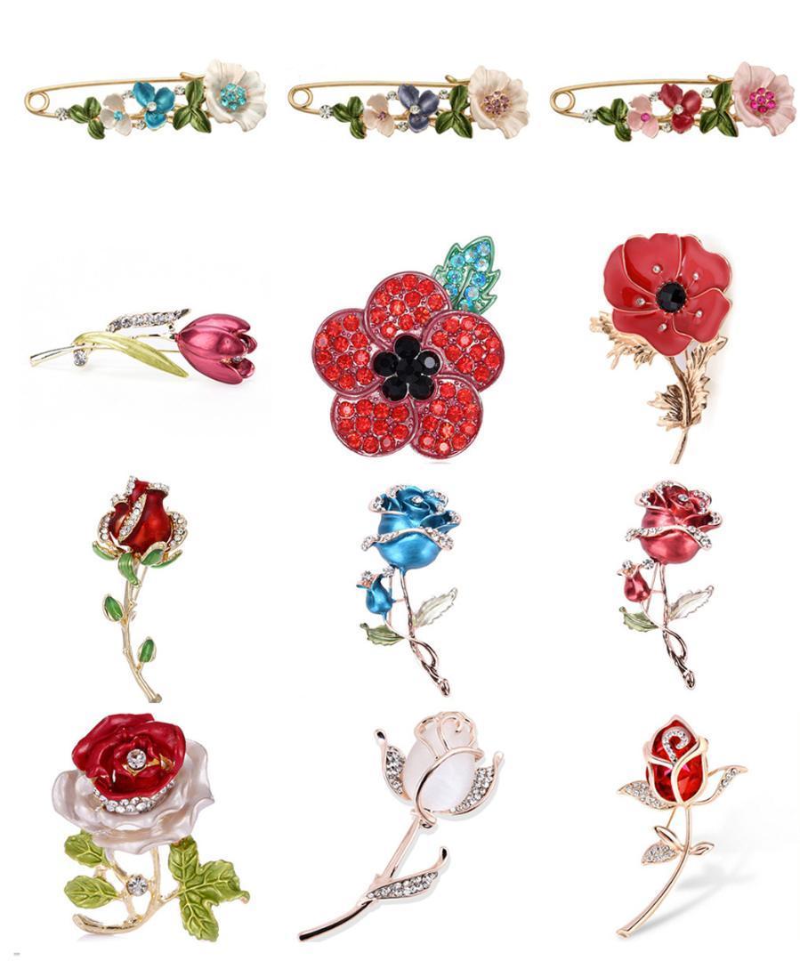 c6184ed9bb96 Acquista Elegante Tulipano Rosa Fiore Spilla Pin Cristallo Costume Gioielli  Vestiti Accessori Gioielli Spille Le Nozze A  33.6 Dal Bestqueen