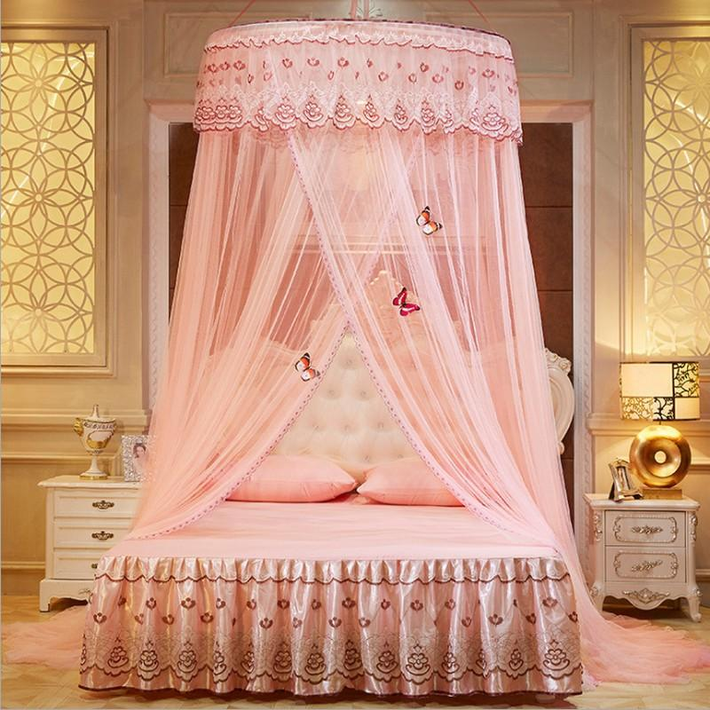 Princess Hanging Round Lace Mosquito Net Living Room Canopy Bed ...
