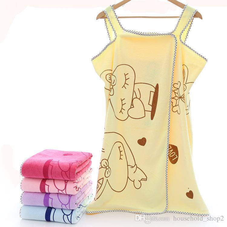 Kadın Banyo plaj Havlusu Giyilebilir Mikrofiber Plaj Havlusu Yumuşak Wrap Etek Havlu Süper Emici ev açık yüzme havlu