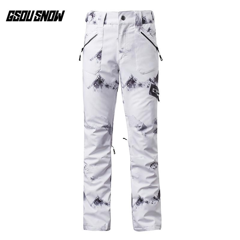 Reasonable Gsou Snow Brand Women Ski Pants Waterproof Skiing Pants Female Snowboard Trousers Winter Outdoor Breathable Warm Sport Clothing Skiing & Snowboarding Sports & Entertainment