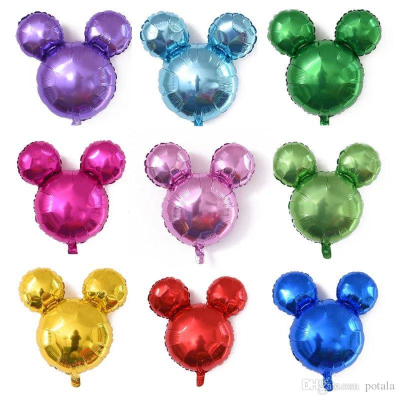 24inch Mickey Balloons Foil Aluminium Coating Ballons Party Decor Birthday Xmas Halloween Supplies FunnyIneresting Cute Ears Children 25th