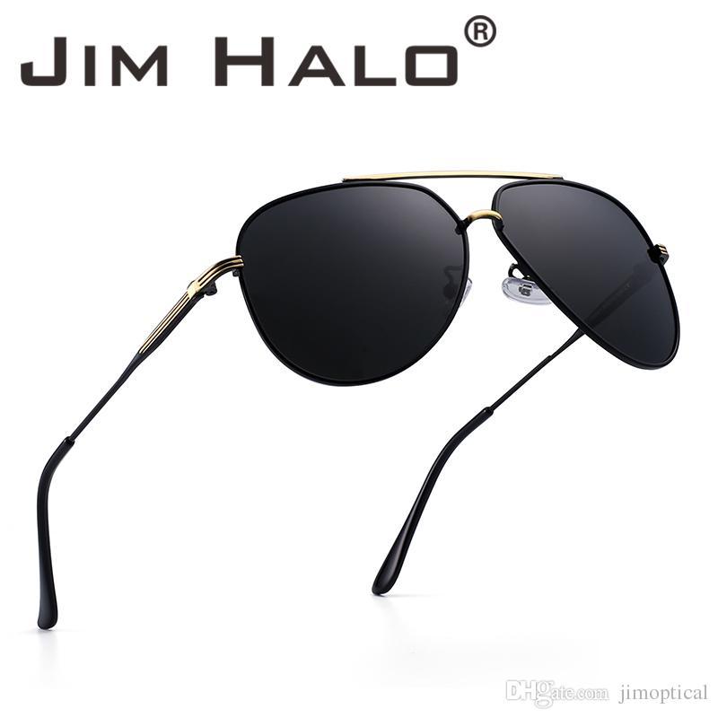 1f73ddf769 Compre Jim Halo Lente Polarizada Oval Gafas De Sol Redondas Marco De Metal  Clásico Gafas De Piloto De Conducción Hombres Mujeres Gafas De Sol A $11.54  Del ...