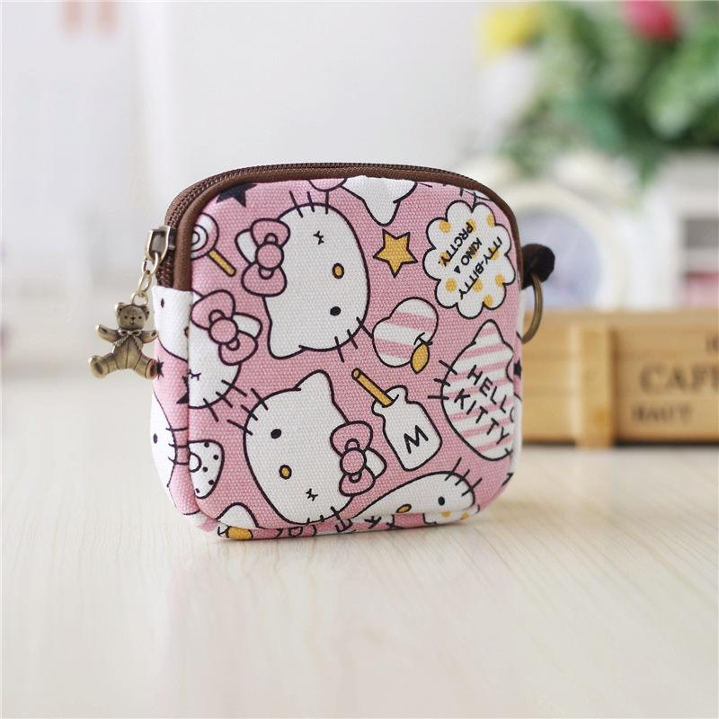 000f98e0d Hello Kitty Canvas Small Coin Purse Little Key Car Pouch Women's Purse  Short Children Bags For Girls GIft