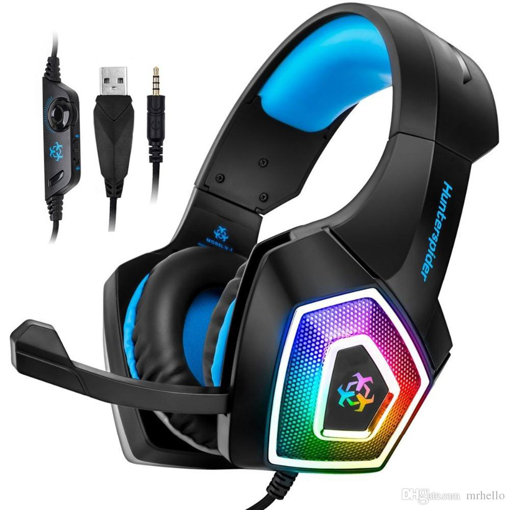 Acquista V1 Stereo Gaming Headset Casque Surround Sound Cuffie Over Ear Con  Microfono LED Light PS4 Xbox One PC A  21.18 Dal Mrhello  998a983a3f27