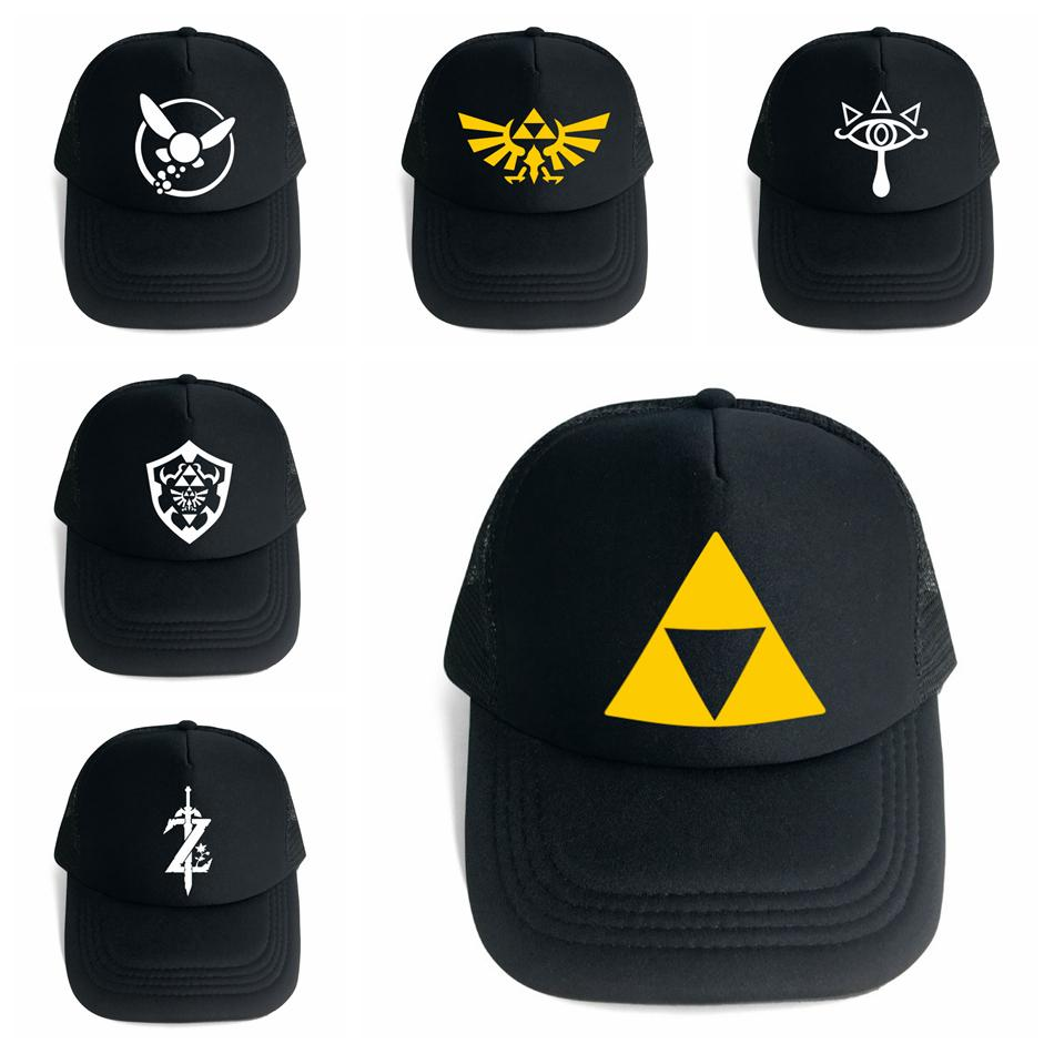 d89a4f11 The Legend Of Zelda Baseball Hat 6 Styles Game Anime Symbol Mesh Trucker  Cap Cosplay Costume Party Ball Hats OOA5483 Trucker Cap Snapback Caps From  ...