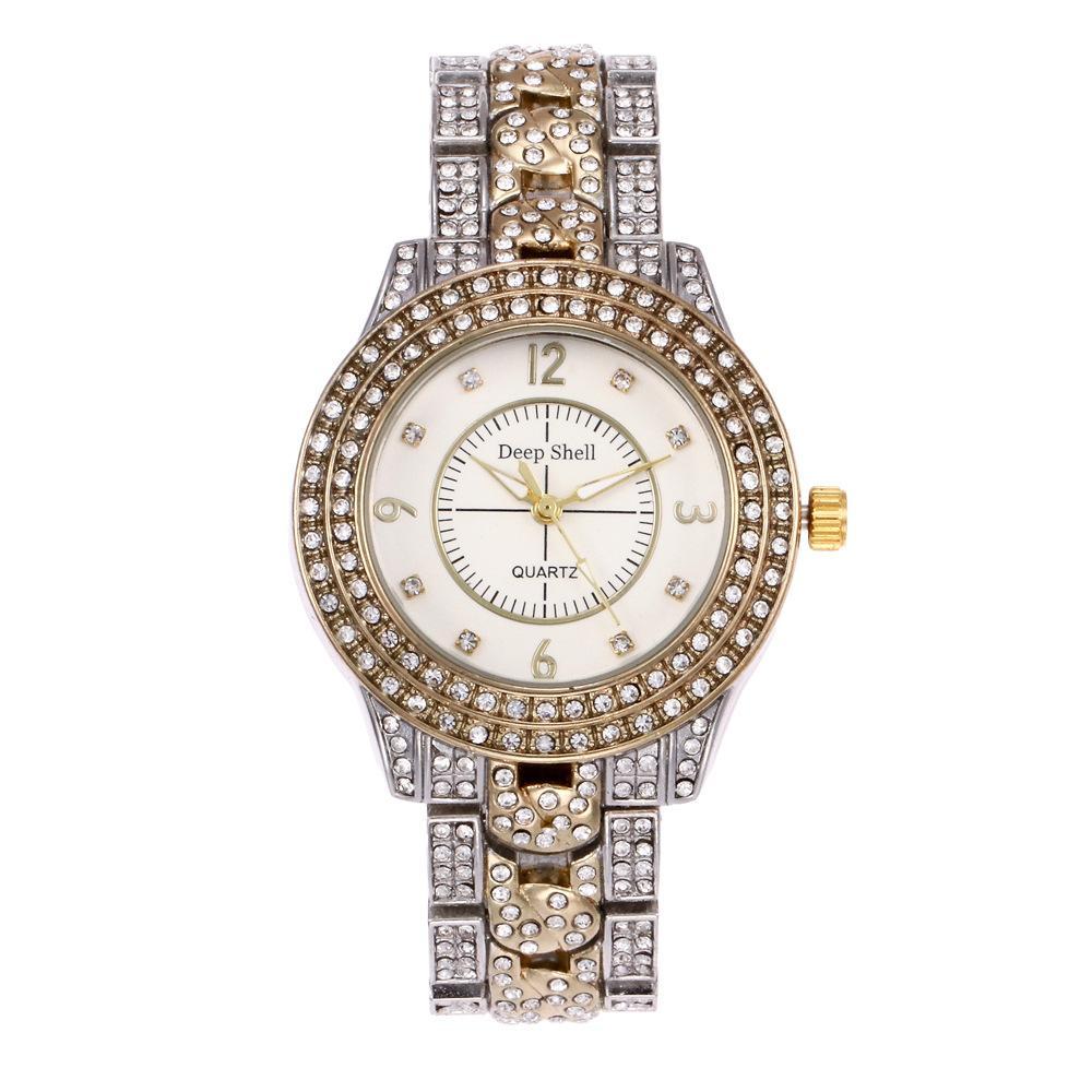 8cc158667cb3 Compre Reloj De Pulsera De Señoras De Moda Juego De Aleación De Lujo Reloj  De Diamantes Lleno Modelos Femeninos Con Diamantes A  130.42 Del  Qiufenshuan ...