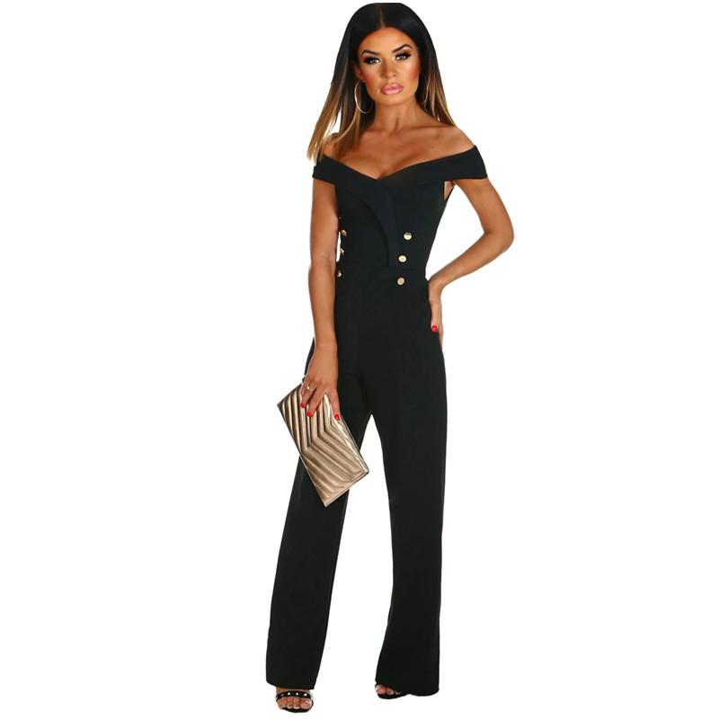 007ada8ee0b 2019 Only You Jumpsuit 2018 New Sexy Party Fashion Black Off The Shoulder  Wide Leg Rompers Long Pants Summer Casual Overall Lc64375 From Yukime