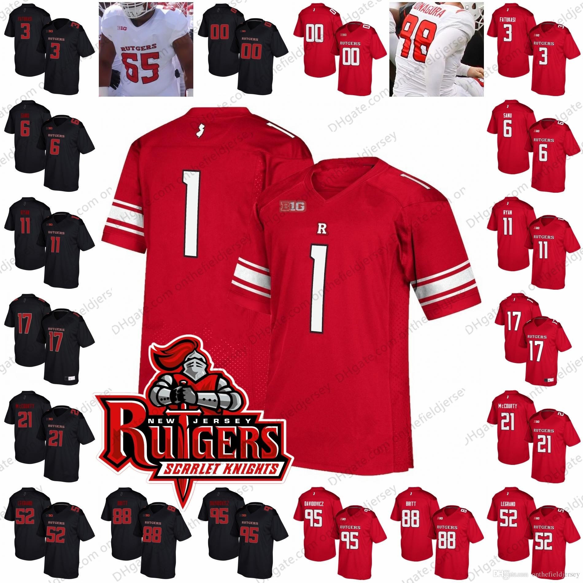 2019 Custom Rutgers Scarlet Knights College Football Jersey Any Name Number   3 Jalen Chatman 11 Logan Ryan 27 Ray Rice 95 Justin Davidovicz S 4XL From  ... 199b173af