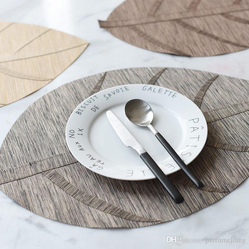 Acheter Table Napperon Feuille Feuille Pvc Couverture Tapis Tapis