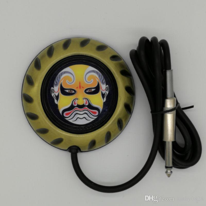 Tattoo Foot Pedal Foot Switch With Special Designed China Peking Opera Facial Image For All Artist's Choice