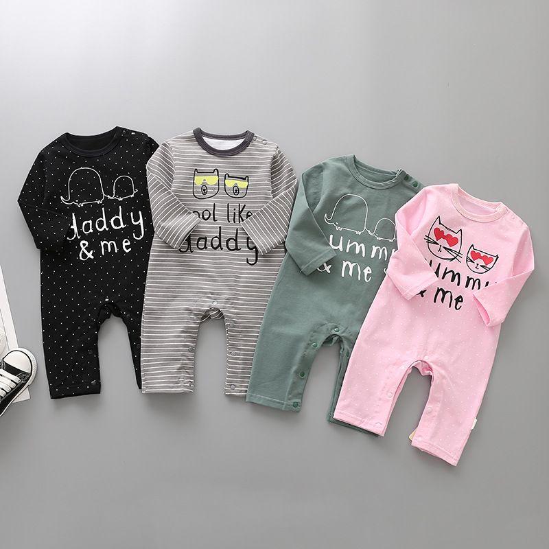 dc11c0580b2d Baby Spring Autumn Long Sleeve Rompers Kids Cotton Jumpsuit Newborn ...