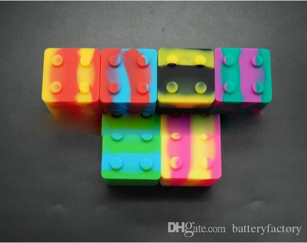 Slick stack con forma de lego 9 ml de silicona cuadrada bho contenedor de aceite cera de silicona cera de almacenamiento para concentrados de cera y BHO En stock