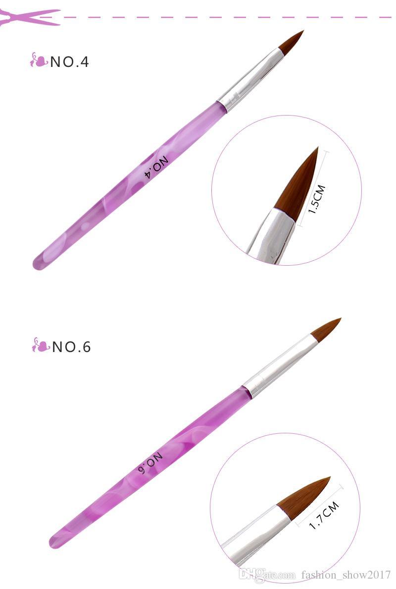 Nuova Scultura liquido acrilico Powder Brush Set polacco del gel del fiore DIY 3D punte intaglio Builder Perline strass Dot Pen