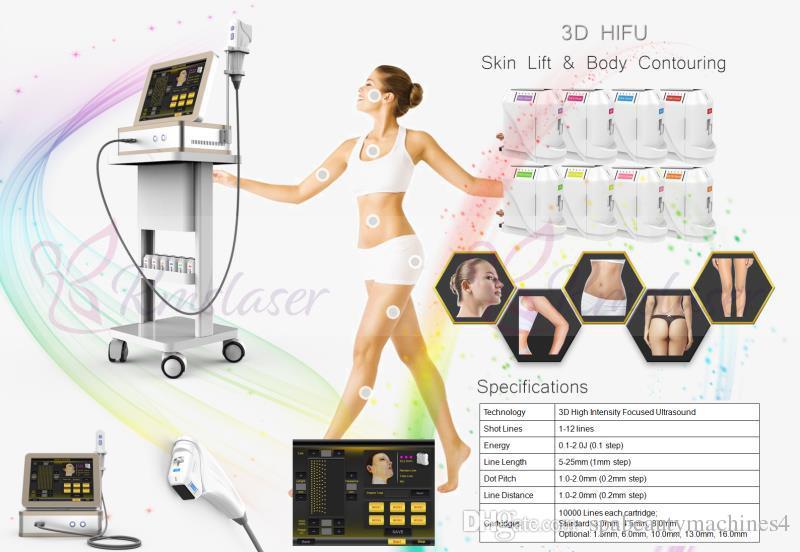 72e4da025 Compre 8 Cartuchos De 12 Linhas 3D Máquinas De Ultra Som HIFU De Alta  Intensidade Focada Terapia De Aperto Da Pele HIFU Body Shaper Emagrecimento  Beleza ...