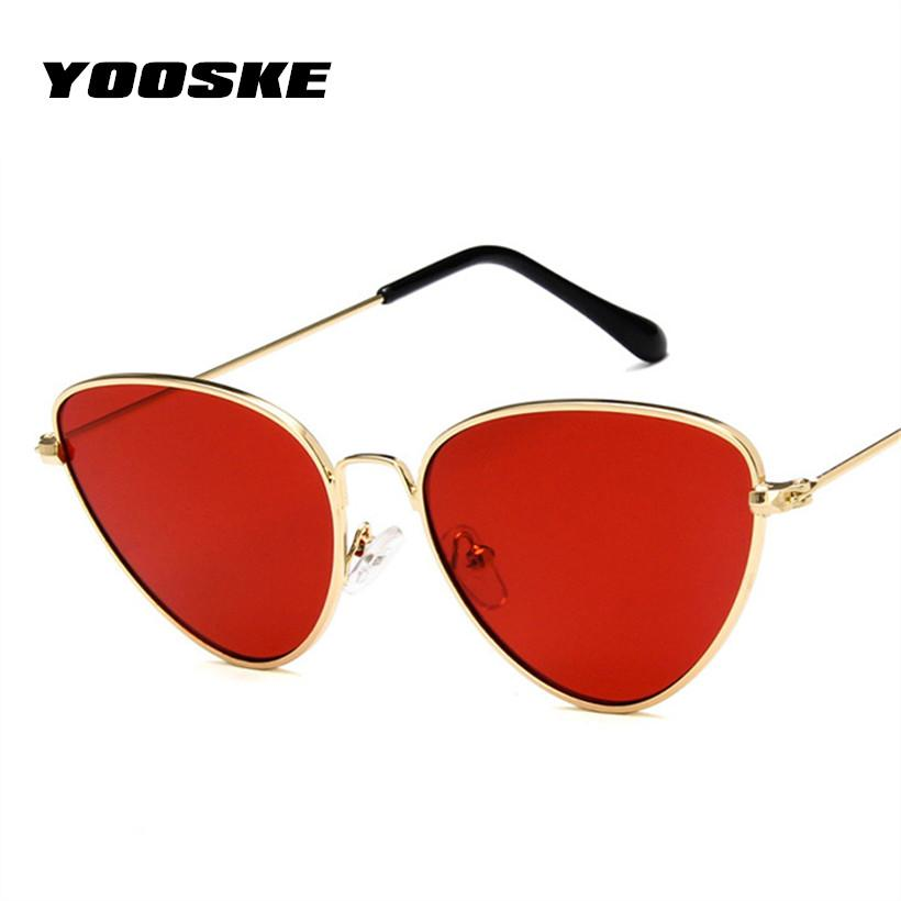 add19a25e1524 Yooske Retro Cat Eye Sunglasses Women Red Cateye Sun Glasses Fashion Light  Weight Sunglass For Women Vintage Metal Eyewear Online Eyeglasses Discount  ...