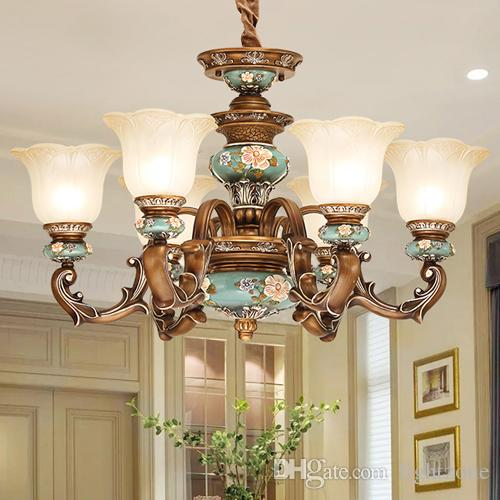 Pendant lamps North European pendant chandelier light elegant luxury classic American royal fancy led pendant lighting with lighting bulbs