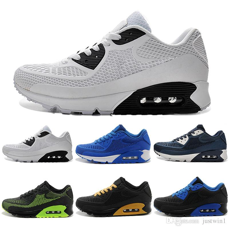the best attitude c346c a7715 Acquista 2018 Nike Air Max Airmax 90 KPU Nuovo Running Shoes Cushion 90 KPU  Uomo Donna Sneakers Alta Qualità A Buon Mercato All Black Chaussure Homme  Scarpe ...
