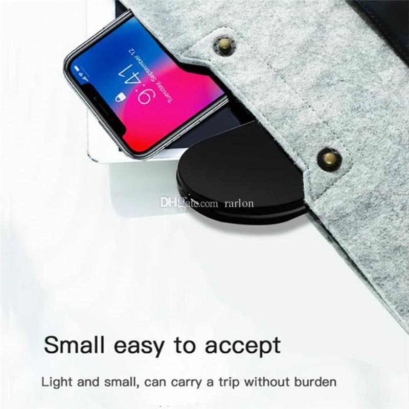 Q100 Fast Charger Wireless 10W intelligente USB respirazione rapida LED di ricarica rapida Adattatore Samsung Galaxy S8 Inoltre S20 Nota 10 Iphone 11 pro max