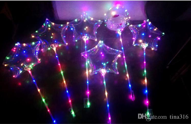 Bolas de Globos Inflables LED para Favor Expresión Látex Fiesta Globo de Aire decoración de Navidad Ornamento Romántico Globo de Luz T1I189