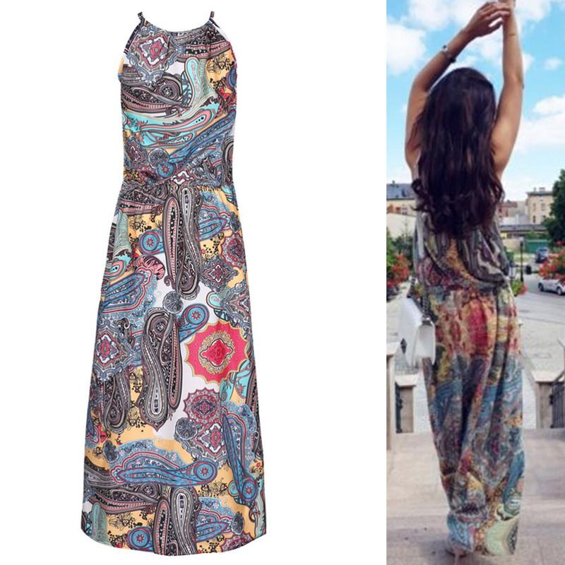 048486f91f 2019 Fashion Boho Women Floral Maxi Dress Summer Sexy Sleeveless Long Beach  Sundress From Clothfirst, $33.93 | DHgate.Com