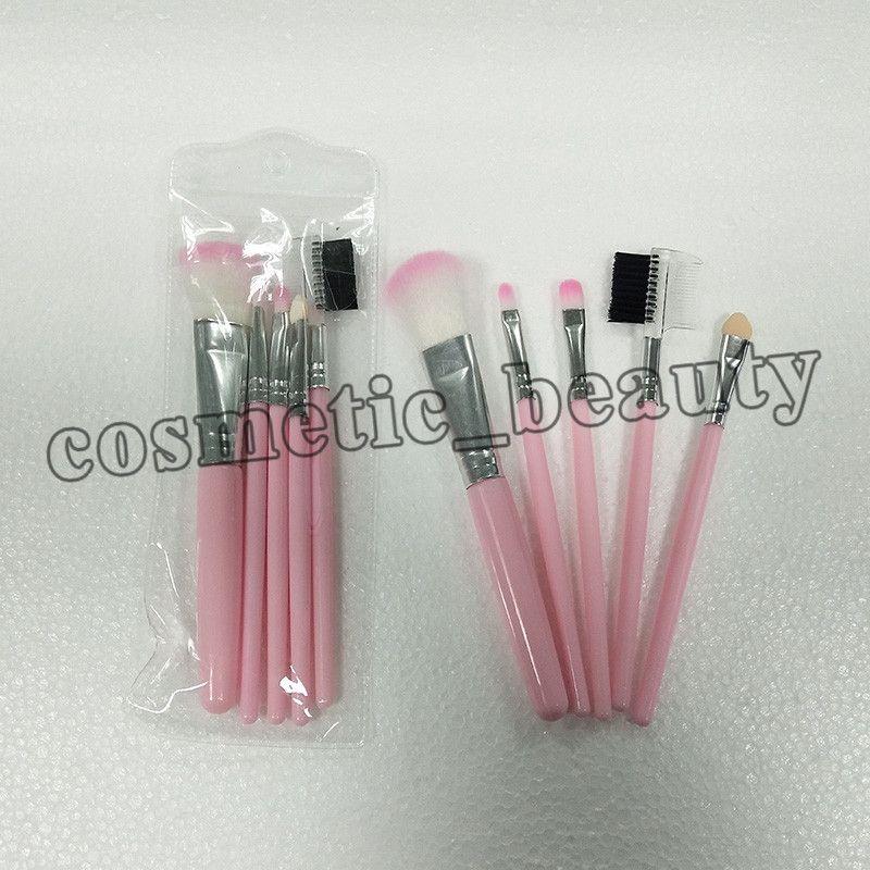 2018 Fabbrica diretta bellezza trucco pennello Rosa trucco pennello 5 pz / set cosmetici pennello DHL spedizione gratuita + REGALO