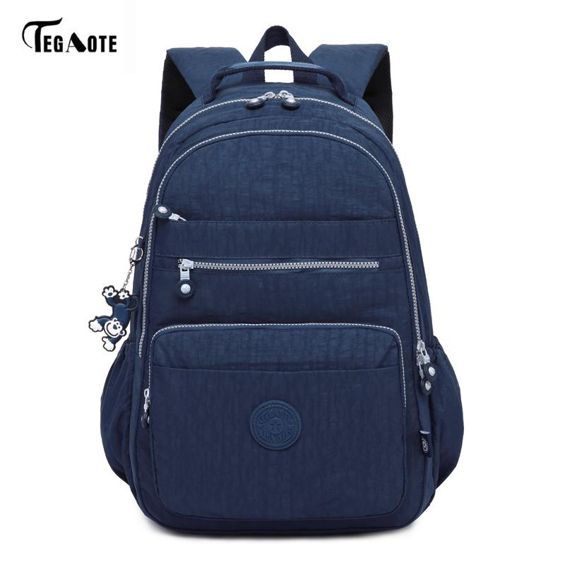 7dc4d72843 TEGAOTE Brand Laptop Backpack Women Travel Bags 2017 Multifunction Rucksack  Waterproof Nylon School Backpacks For Teenagers Small Backpack Backpack  Brands ...