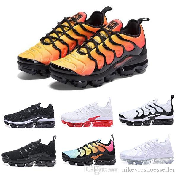 brand new 5765b 6cb98 Großhandel 2018 Nike Air Max TN Plus New Walking Shoes Herren TN Schuhe Tns Plus  Air Fashion Erhöhte Belüftung Casual Trainer Olive Rot Blau Schwarz ...