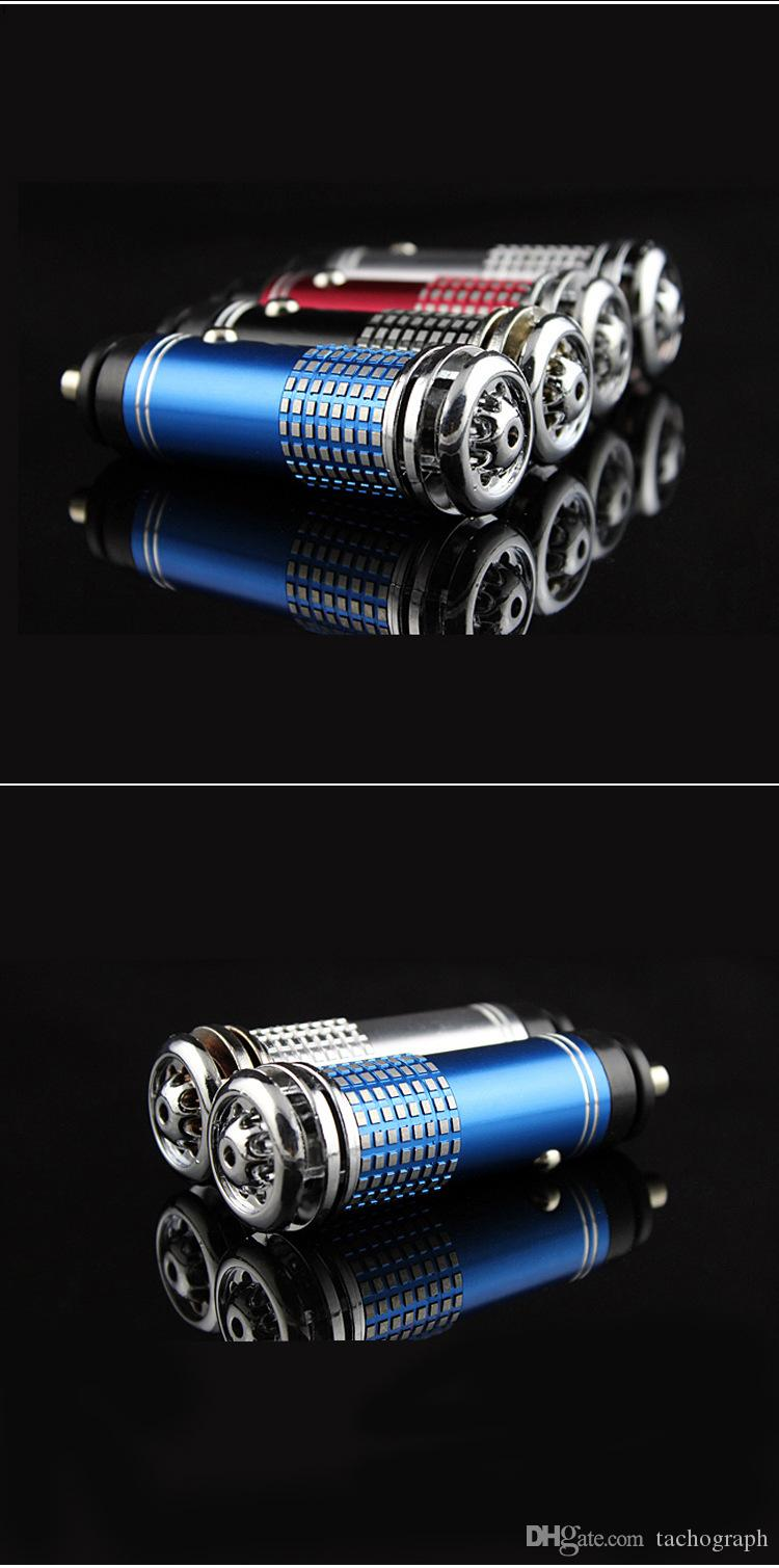 Очиститель воздуха транспортного средства, за исключением генератора отрицательного иона отрицательного запаха формальдегида, автомобиля кислородный бар с синим светом украшения.