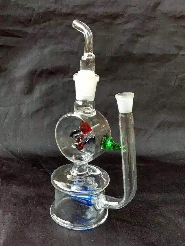 Un vaso de botellas de agua Venta al por mayor Bongs de vidrio Quemador de aceite Pipas de agua de vidrio Plataformas petroleras No fumar
