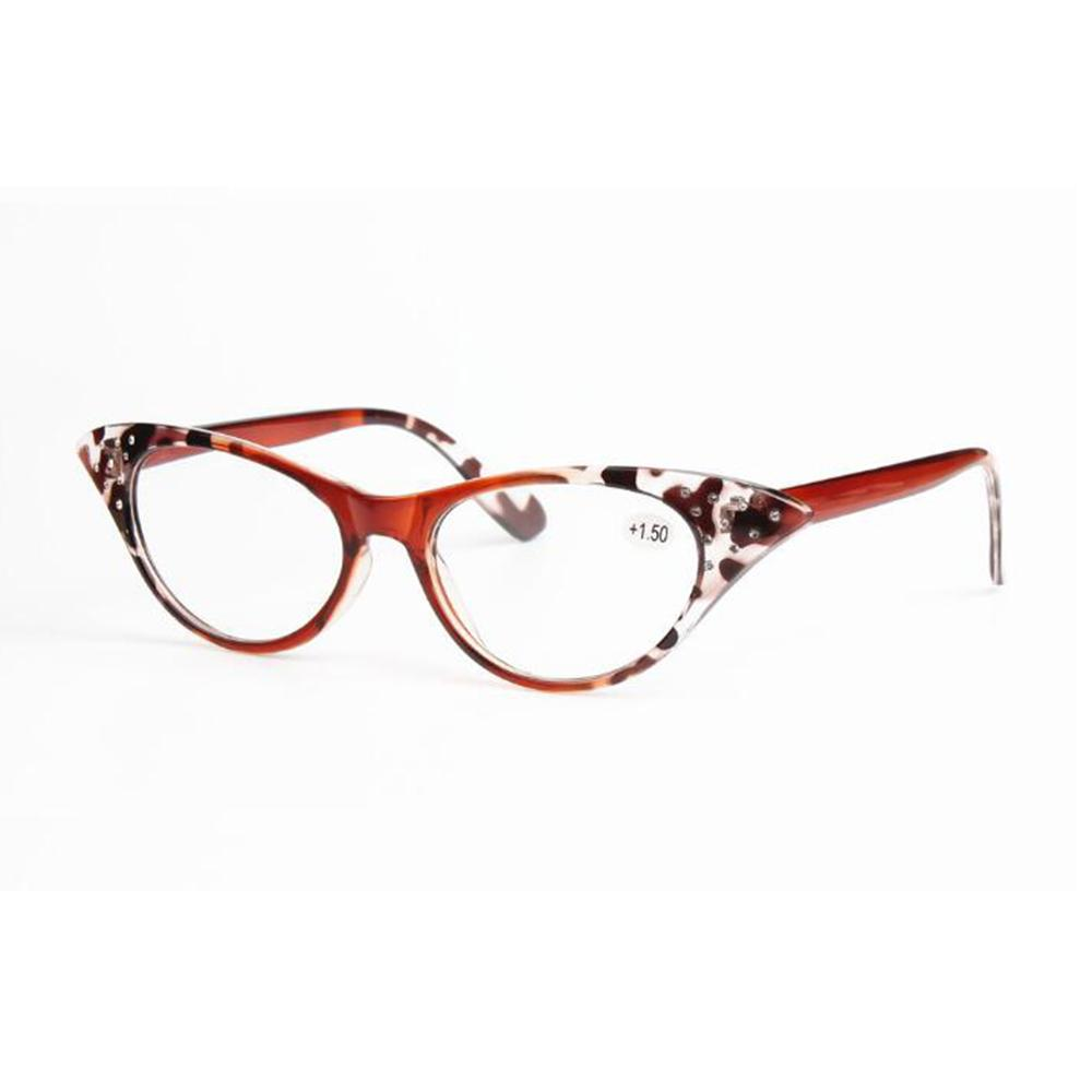 7a582afa53 Retro Reading Glasses Cat Eye Eyeglasses Women Eyewear Leopard Full Plastic  Frame Eye Magnifying Reader +1.0~+3.5 Strength