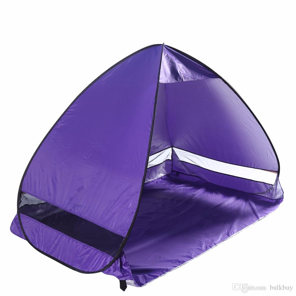 Outdoor Sun Shade Camping Tent Hiking Beach Tent UV Protection Fully Automatic Sun Shade Portable Pop Up Beach Tent Ship From US