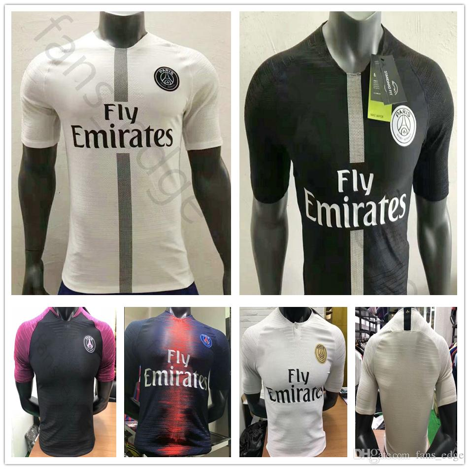 ee215e6cf526 2018 2019 Player Version Paris Saint Germain Jerseys 7 MBAPPE BUFFON ...